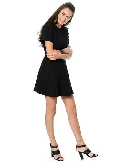 Pepaloves Mini Kloş Elbise Siyah